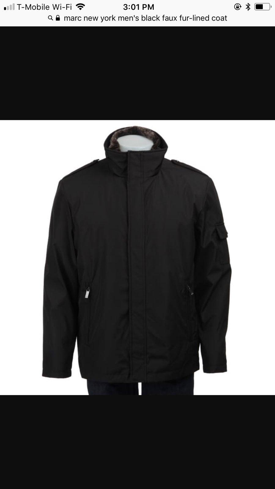 Marc New York Fur Lined Coat Jacket