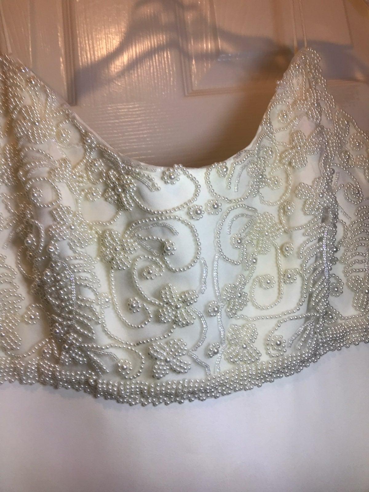 Elegant Ivory beaded dress  SZ 11/12