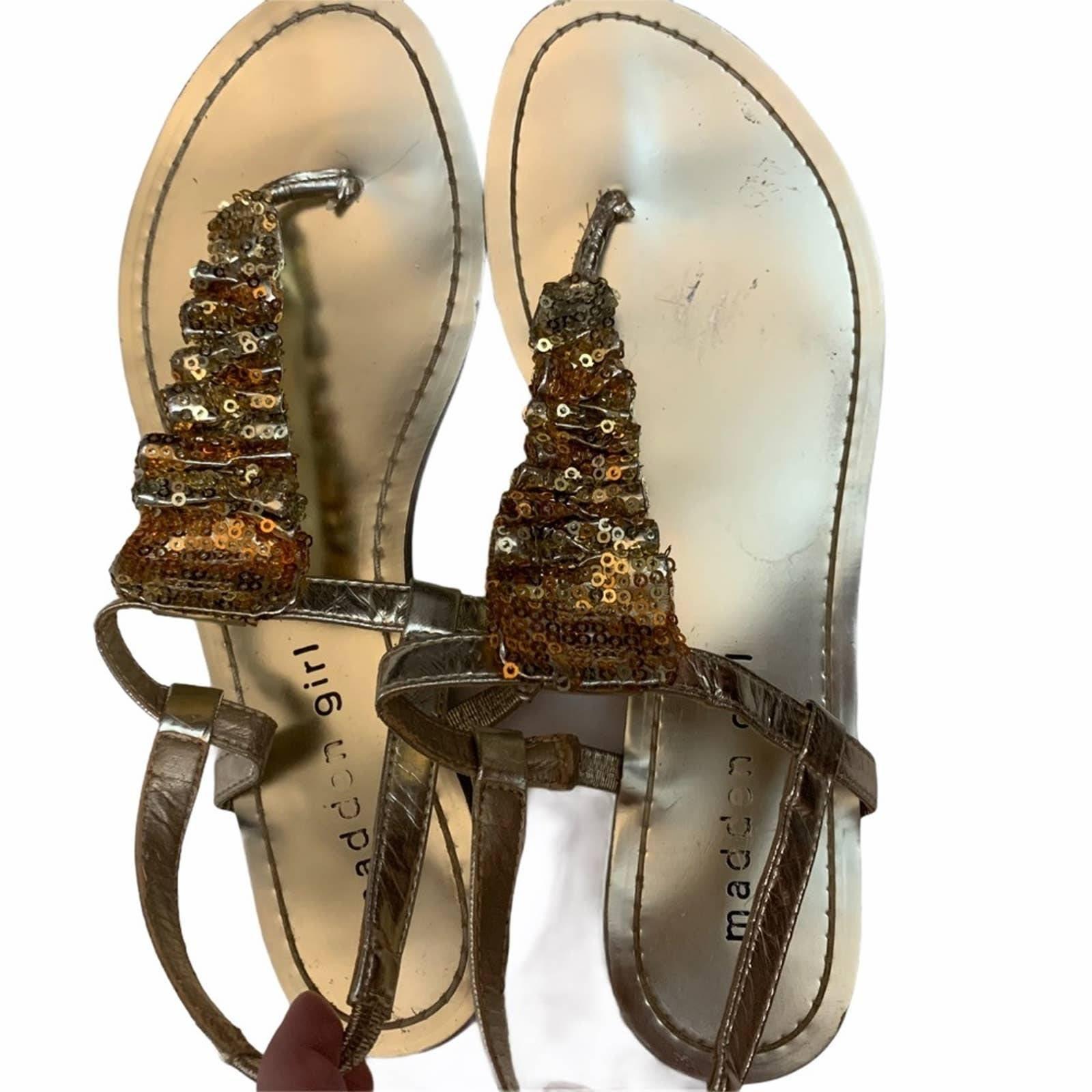 Madden Girl Gold Sandals