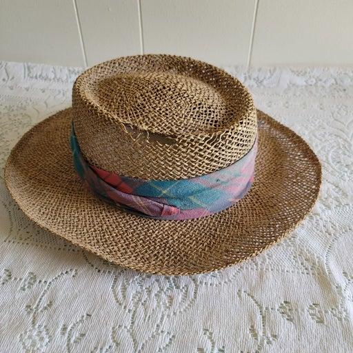 Mens Vintage Straw Hat