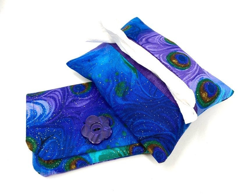 Peacock Fabric Card Wallet/Tissue Holder