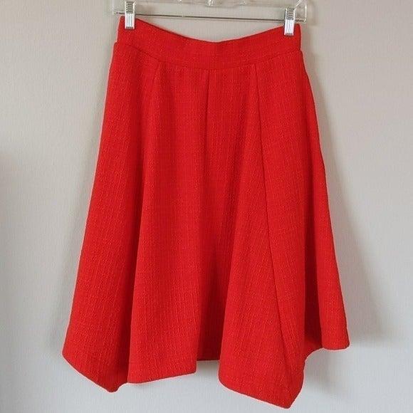 New Anthropologie Maeve Red Swing Skirt