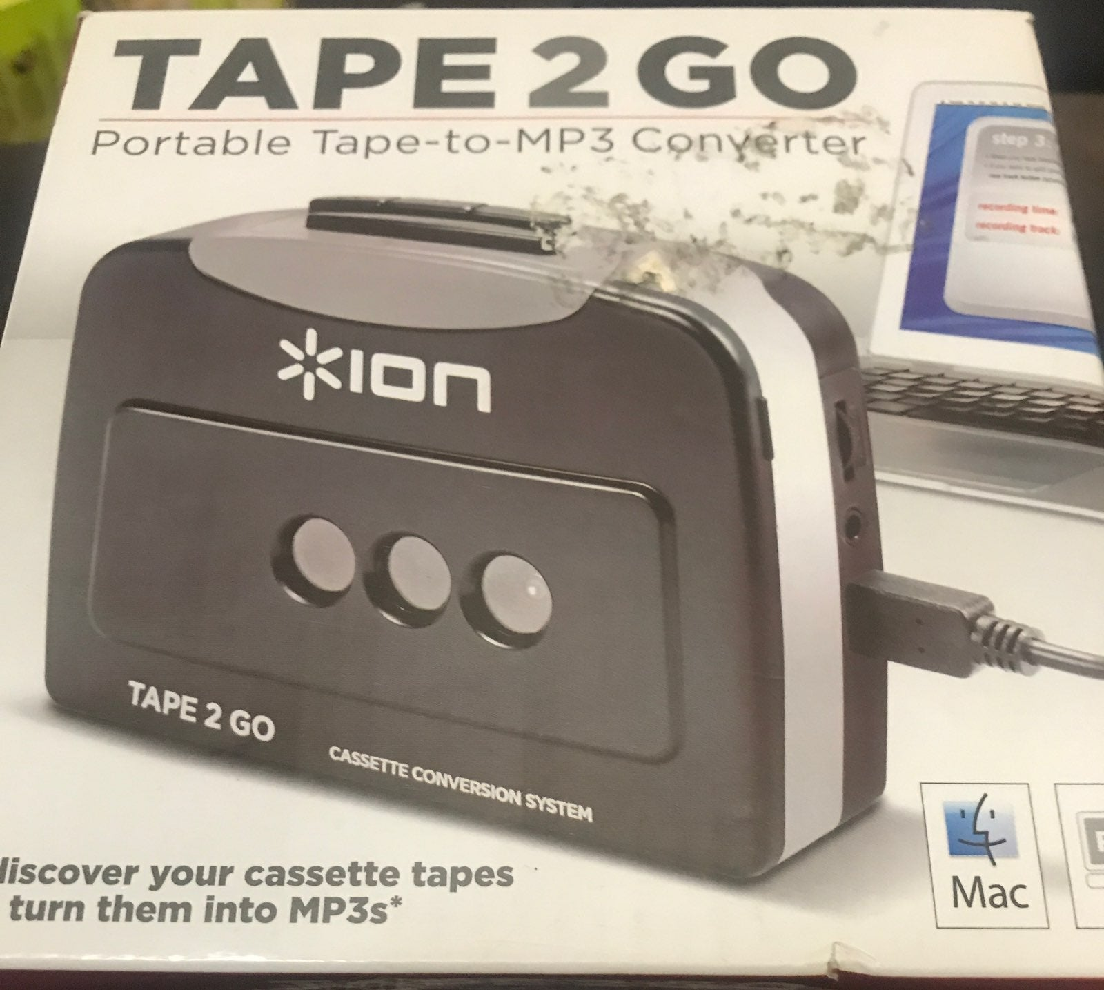 Tape 2 GO Portable-to.-MP3 Converter