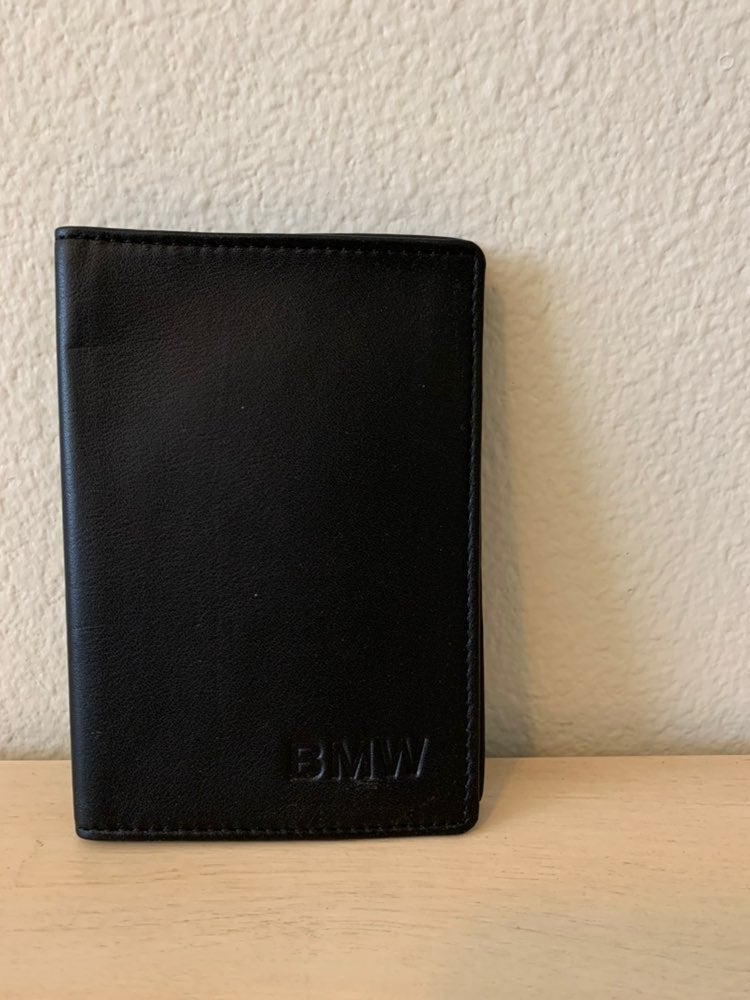 Genuine BMW leather passport holder