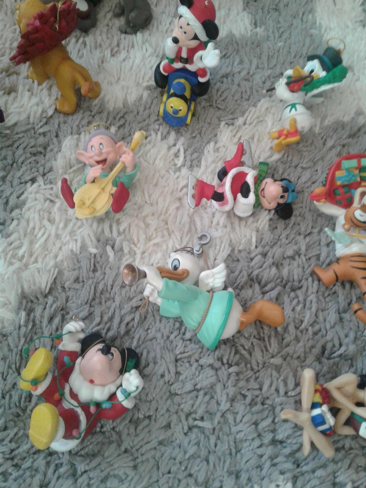 16 Grolier Disney Christmas Ornament Lot