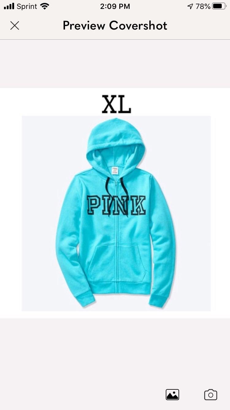 VS Pink Everyday Lounge Full Zip Hoodie