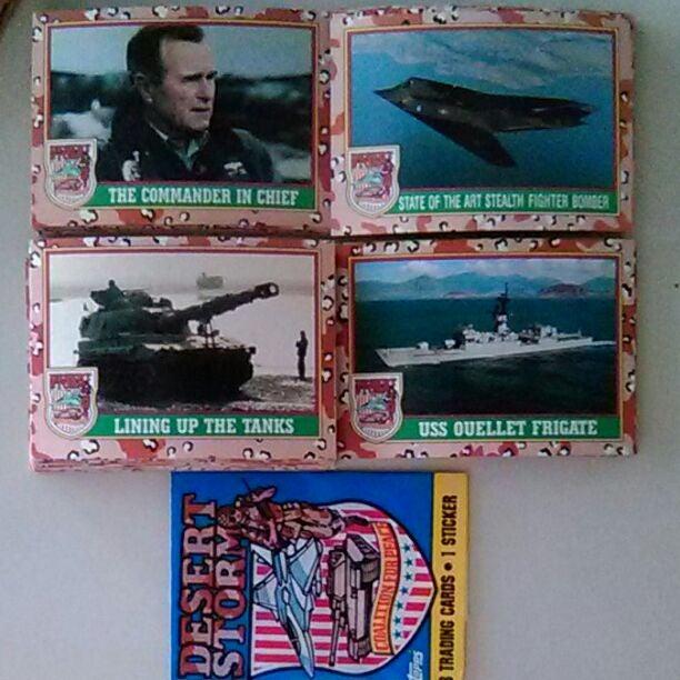 Desert Storm Cards set from Topps 1991