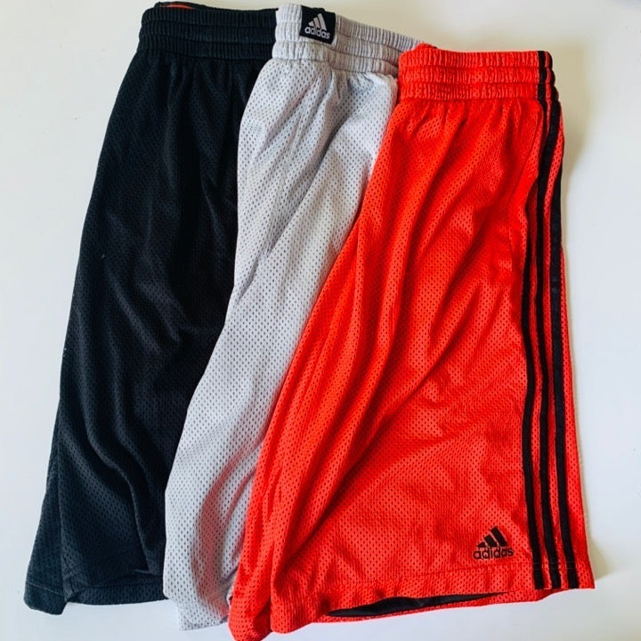 adidas Mesh Basketball Shorts 3Pc Bundle