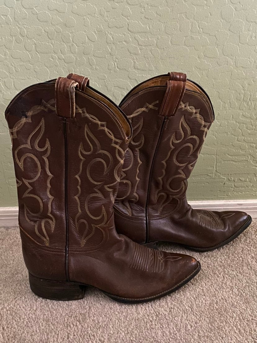 Tony Lama Cowboy Boots Size 9.50