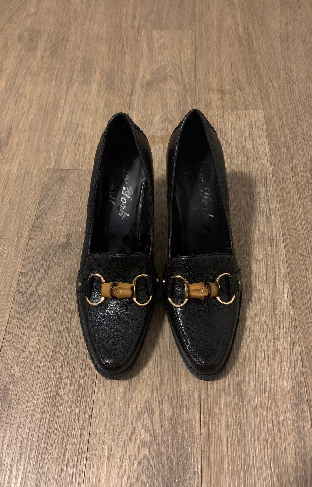 New York Transit Leather Heel