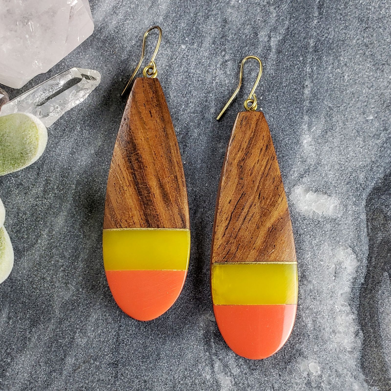 Perfect Fall Wooden Earrings
