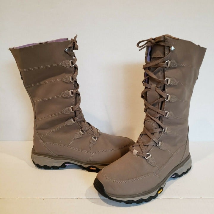 Eddie Bauer Vibram Solstice Thermafill Midlite Tan Lace Up Boots 8 NEW- READ