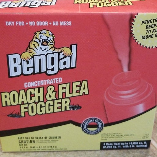 Bengal Roach and Flea Fogger 3 can pack