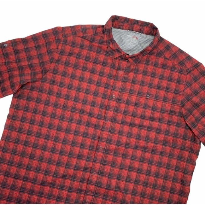 Swiss Tech Red Plaid Shirt Button Down
