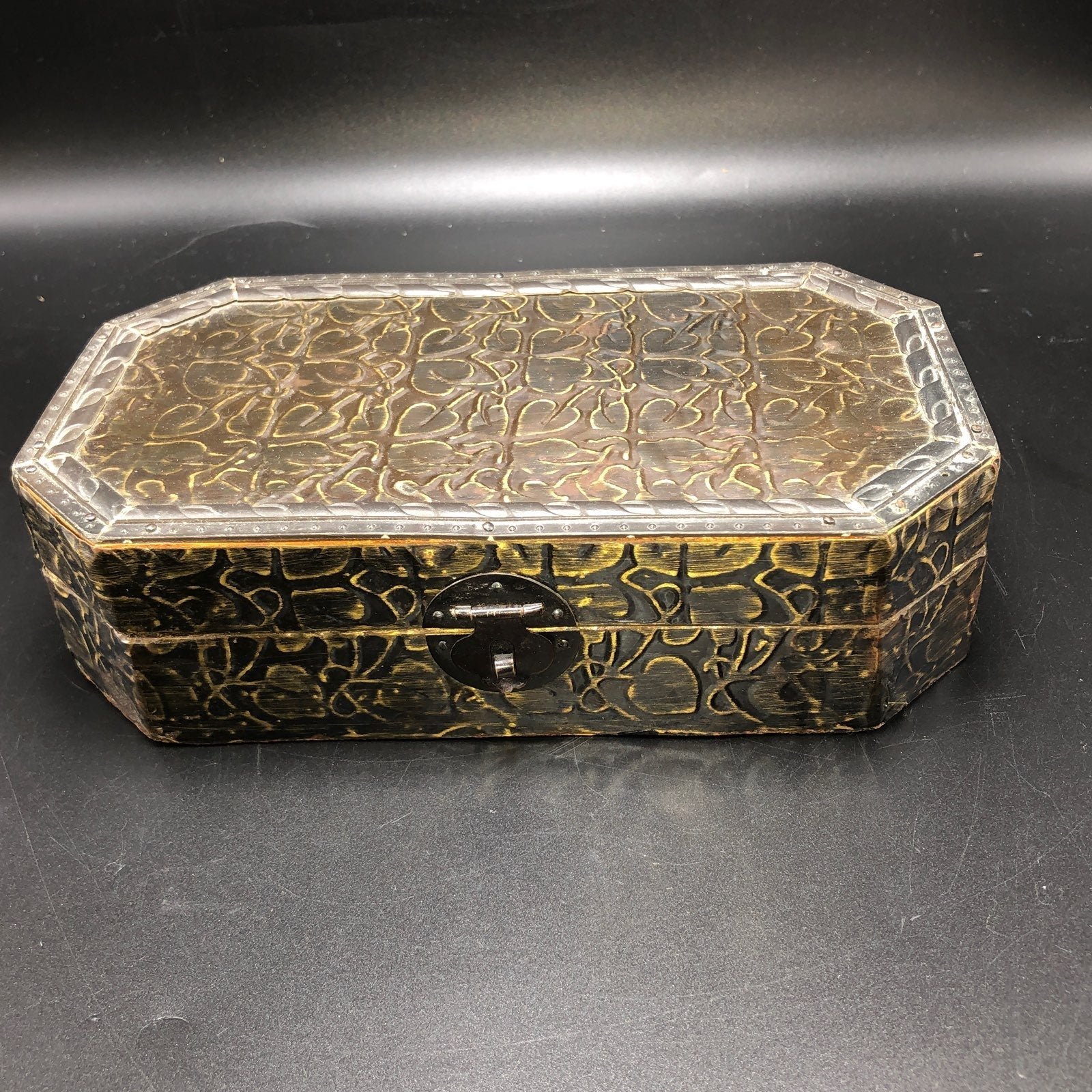 Vintage metal tin box