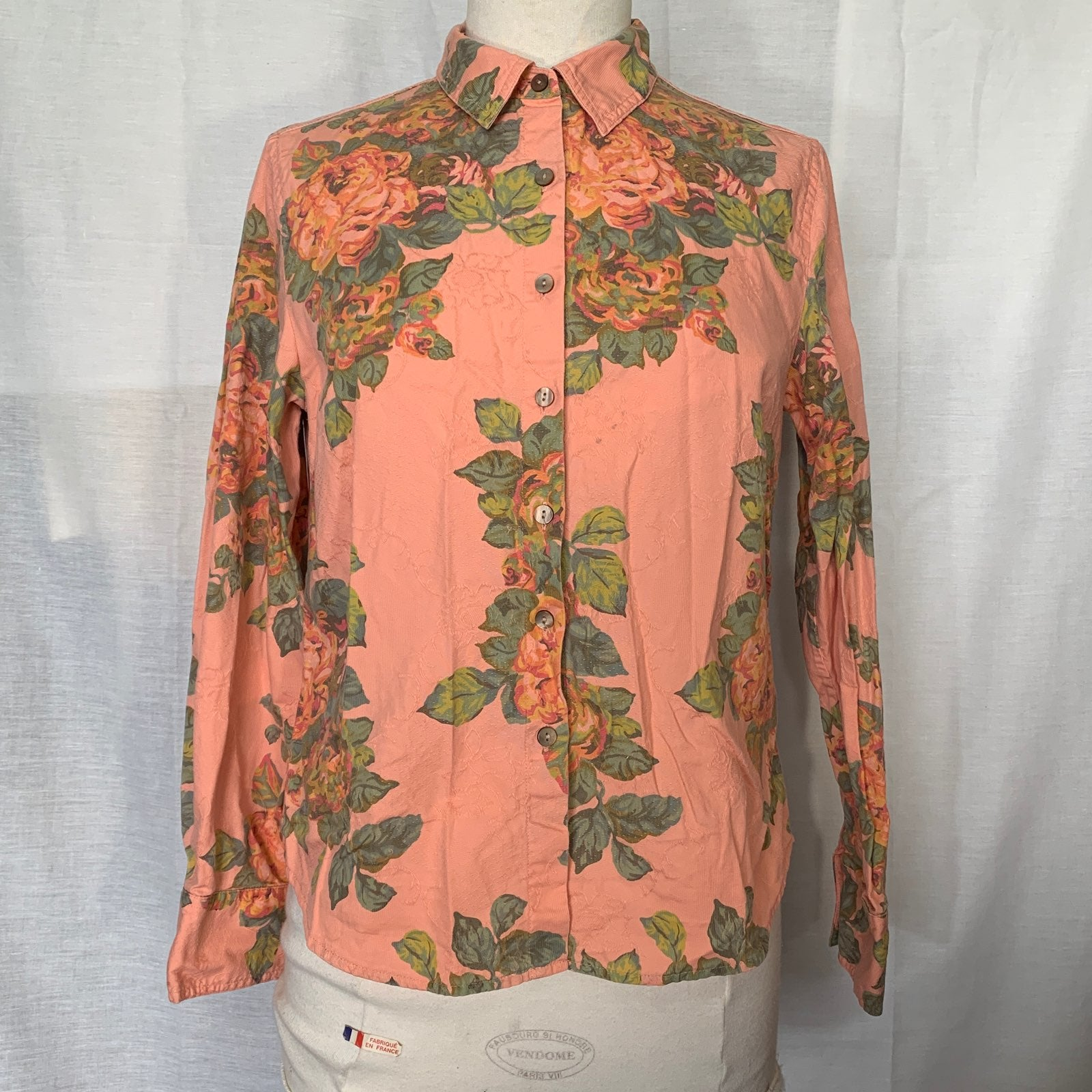 J. Jill Floral Print Embroidered Blouse