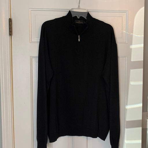 Bugatchi 1/4 zip men's sweater
