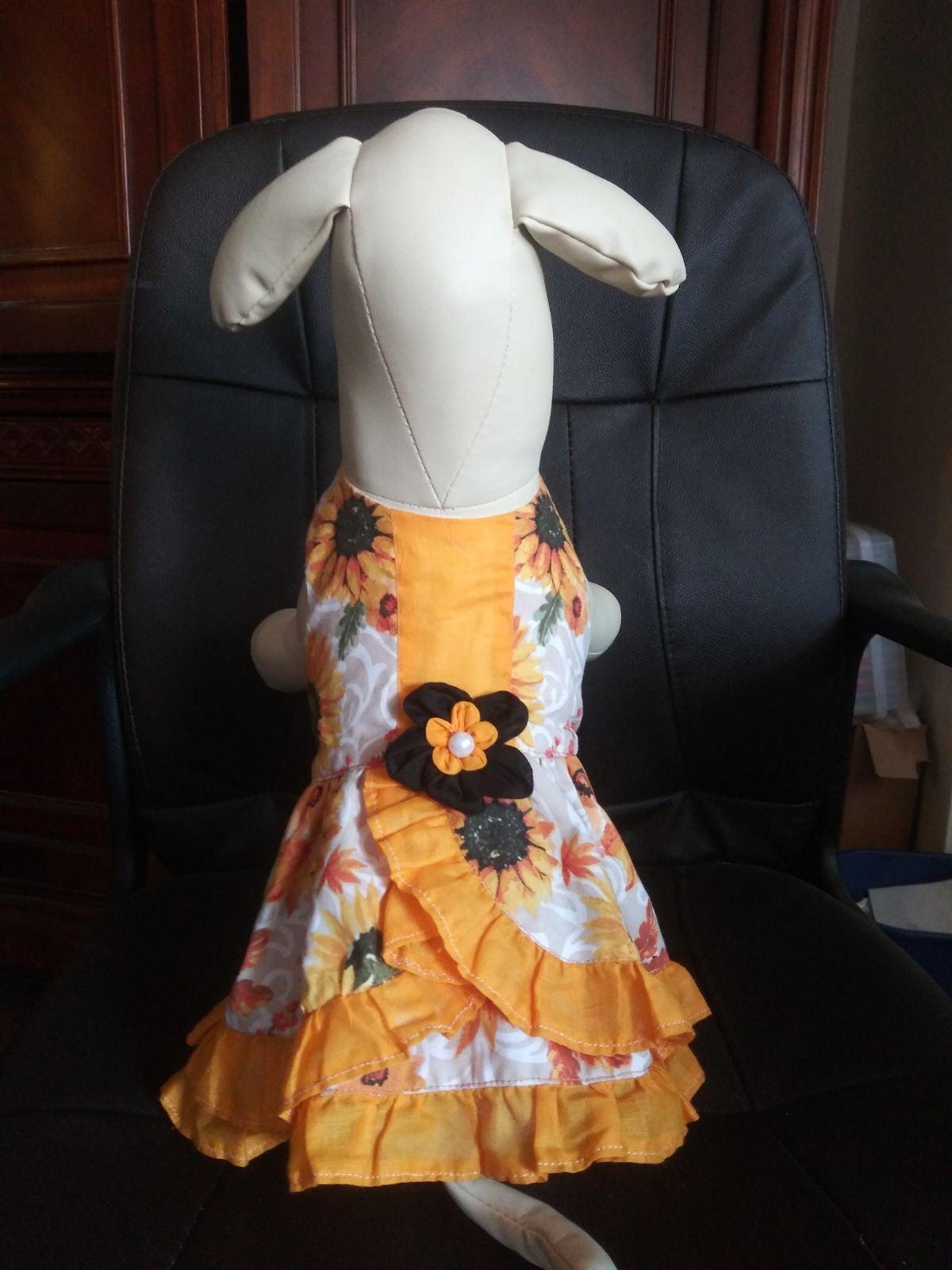 Sunflower southern dog dress