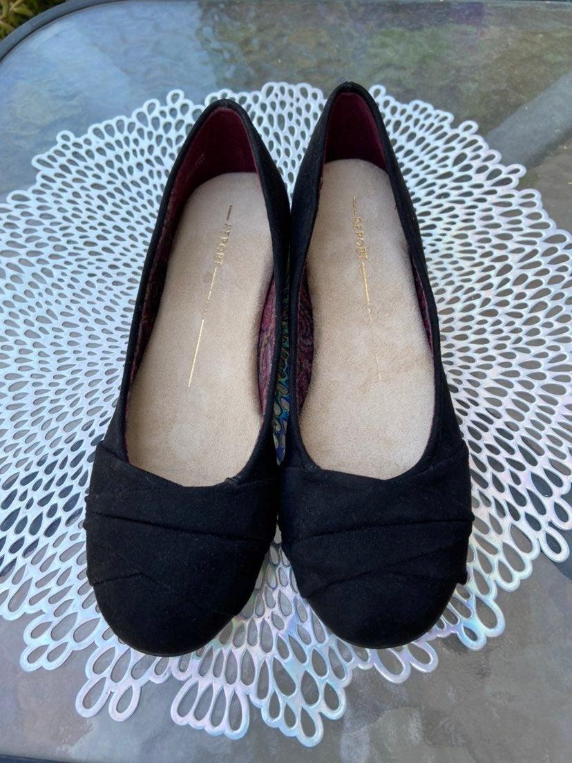 Report Black Ballerina Flats