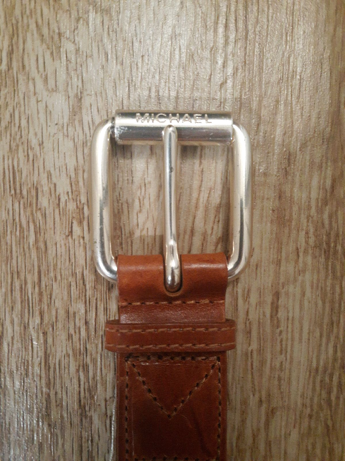 Michael Kors Brown Leather Clear Belt SM