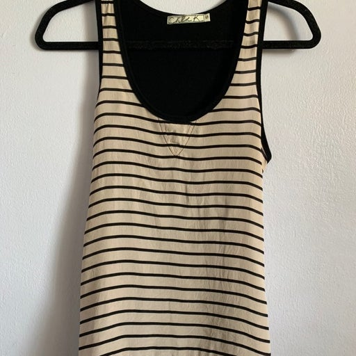 Chloe K Silk Stripe Tank Top