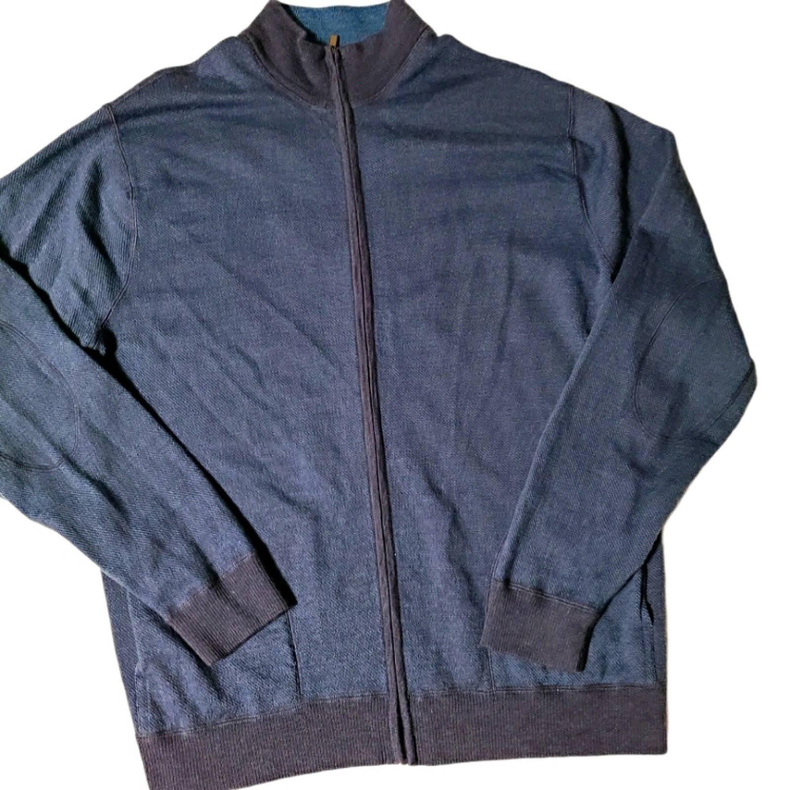 Bugatchi Merino Wool Zip Up Sweater XXL
