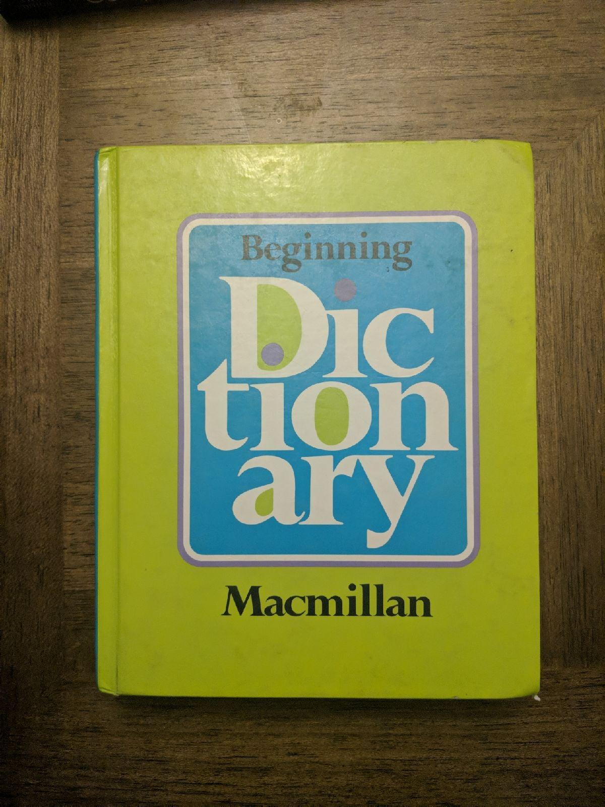 Macmillan Kids Dictionary with diagrams