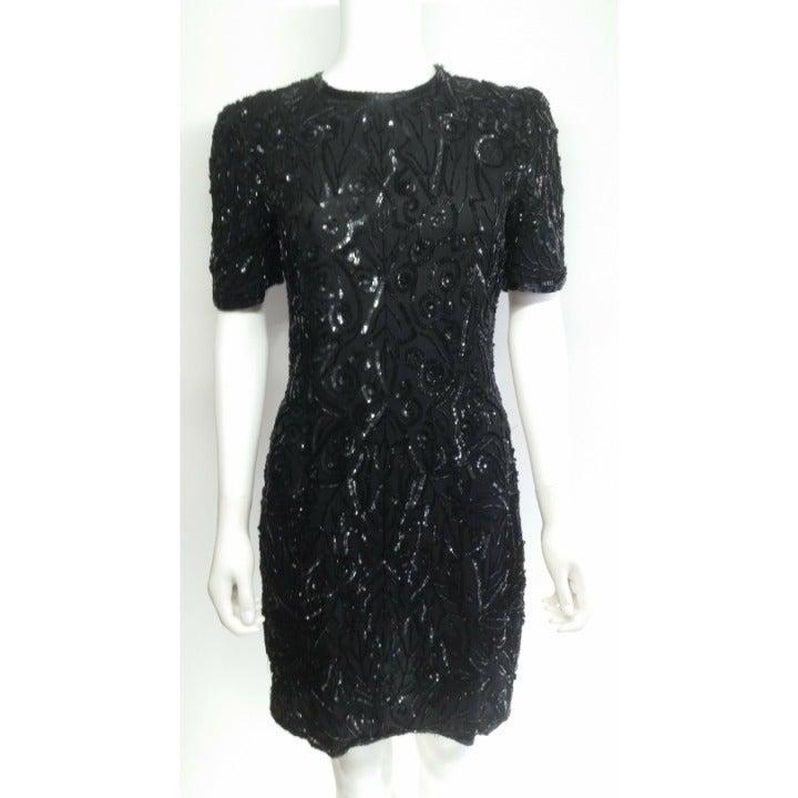 Vintage Sequin Dress Size 10