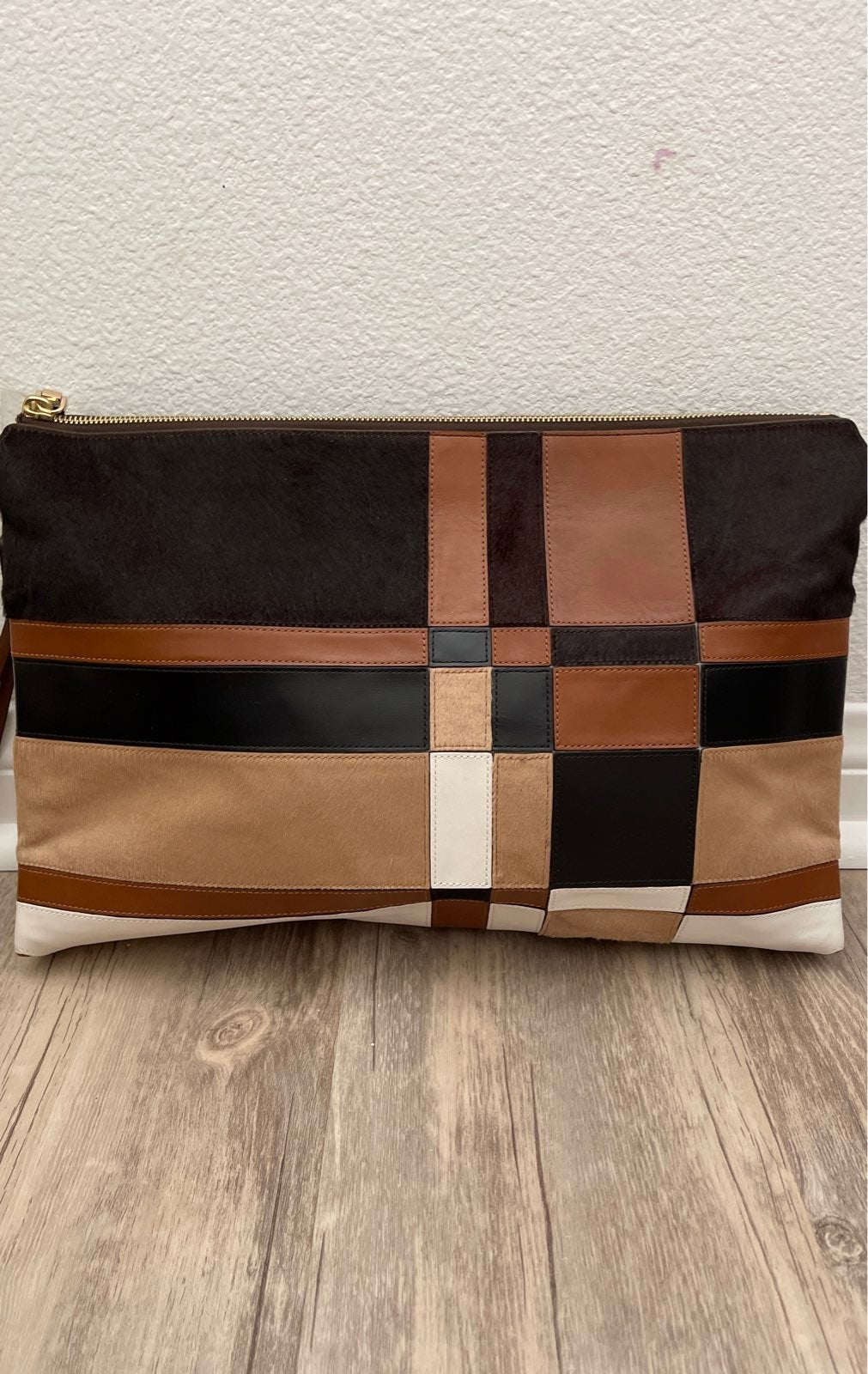 Coach calf skin clutch