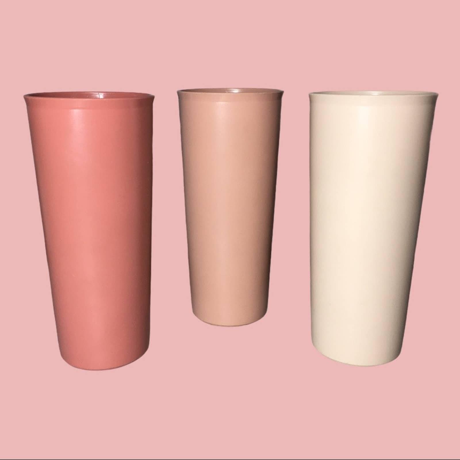 3 Vintage Tupperware Tumblers Cups 16 Oz