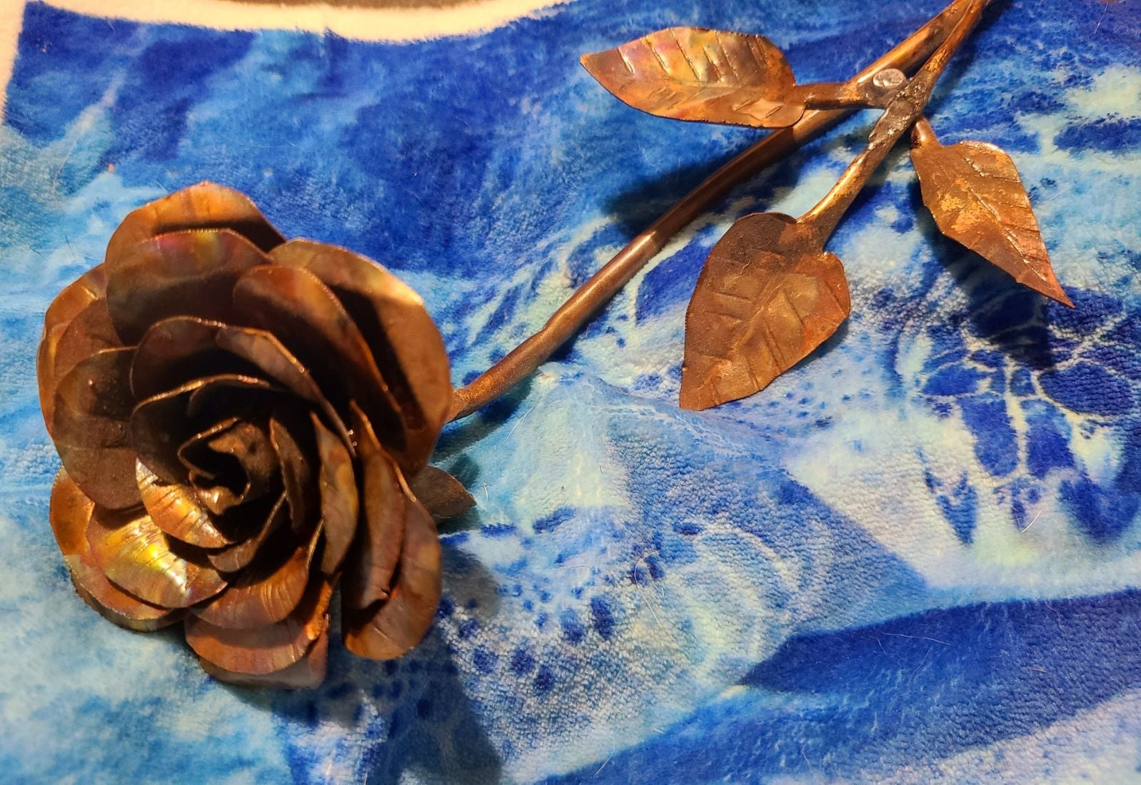Handmade unique copper roses 1 of a kind