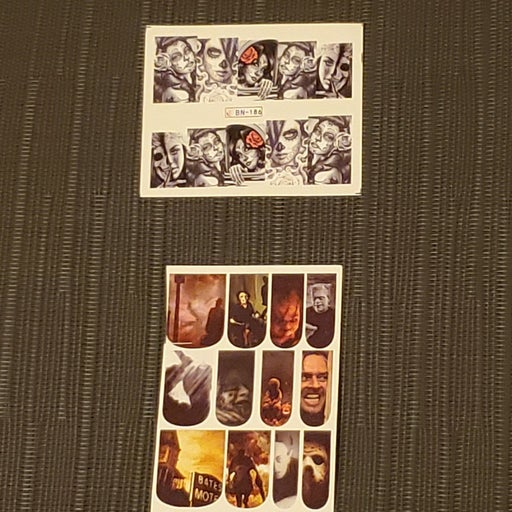 Horror Film Movie Nail Decal Stickers