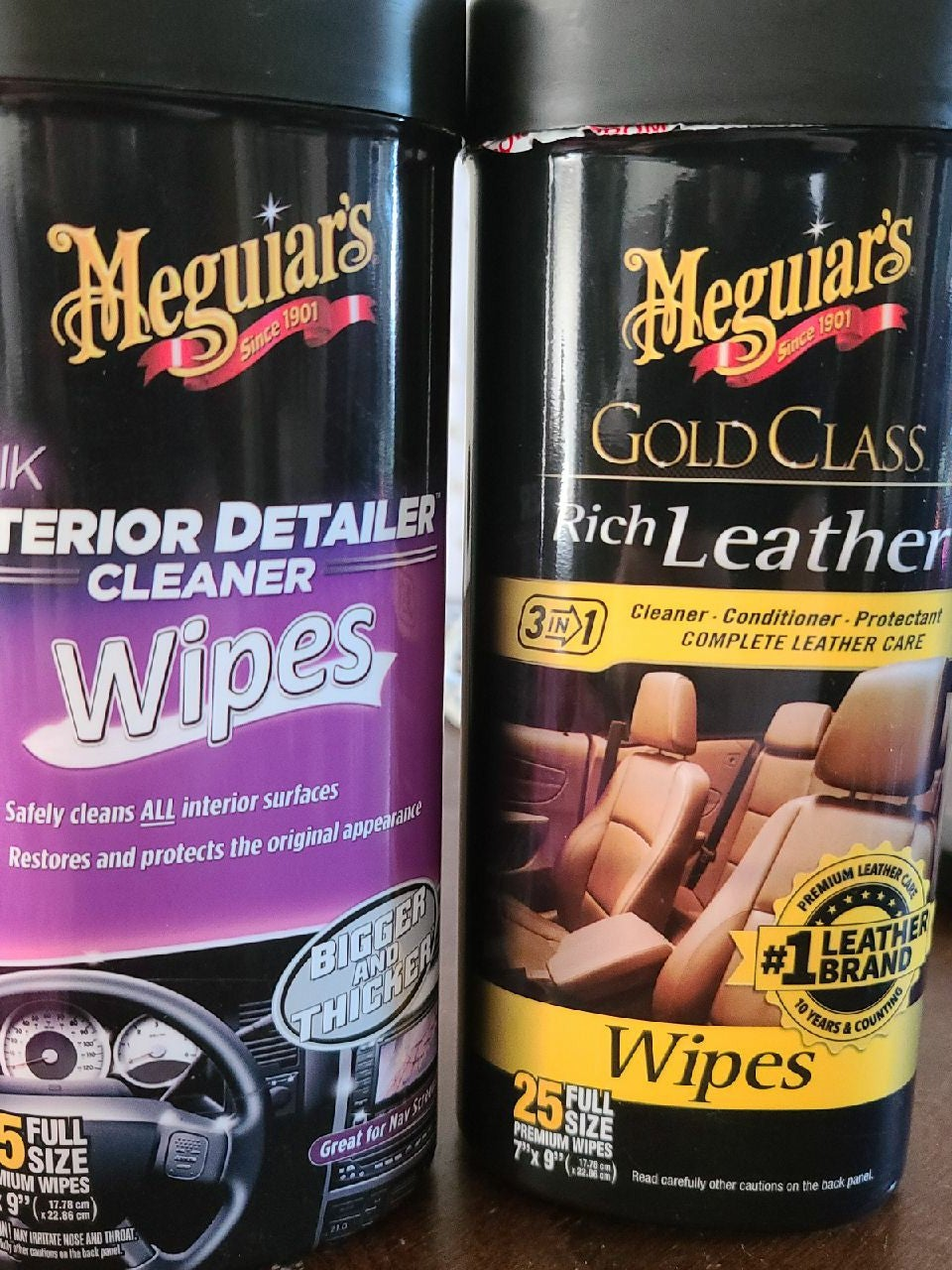 Meguiars Wipes Leather + Interior