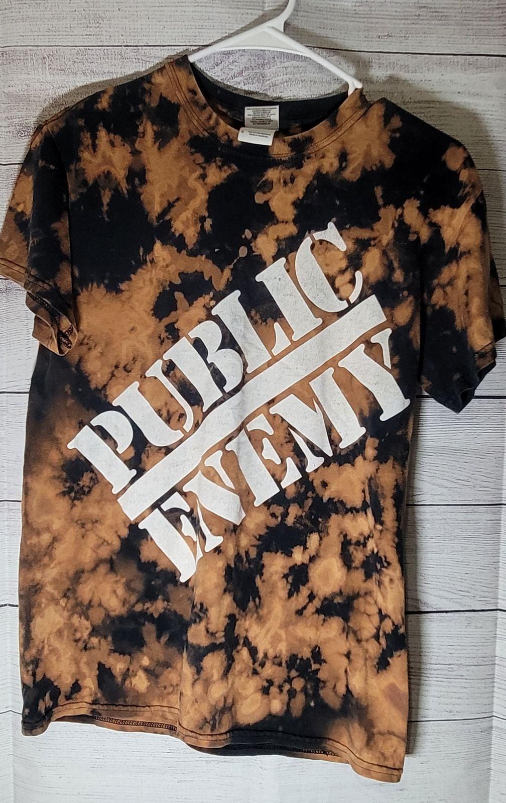 Bleached Public Enemy Concert T