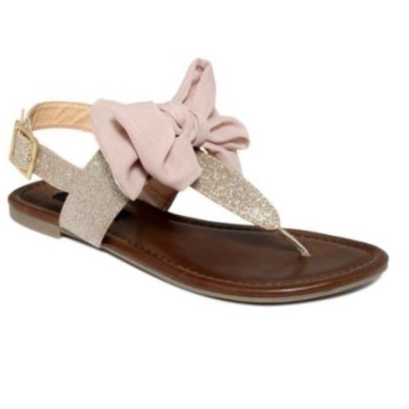 Material Girl Pink Bow Sandals