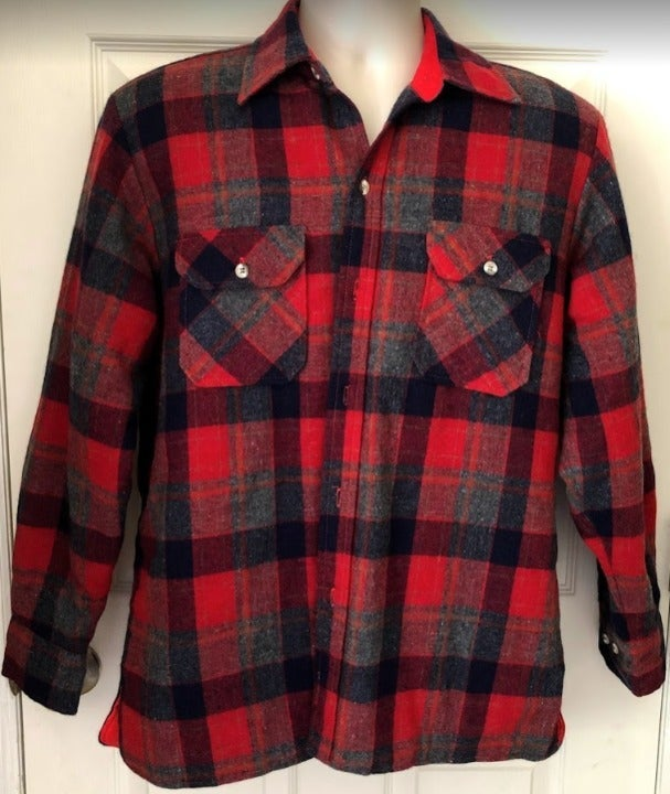 Woodland Men's Wool Plaid Quilted Lined