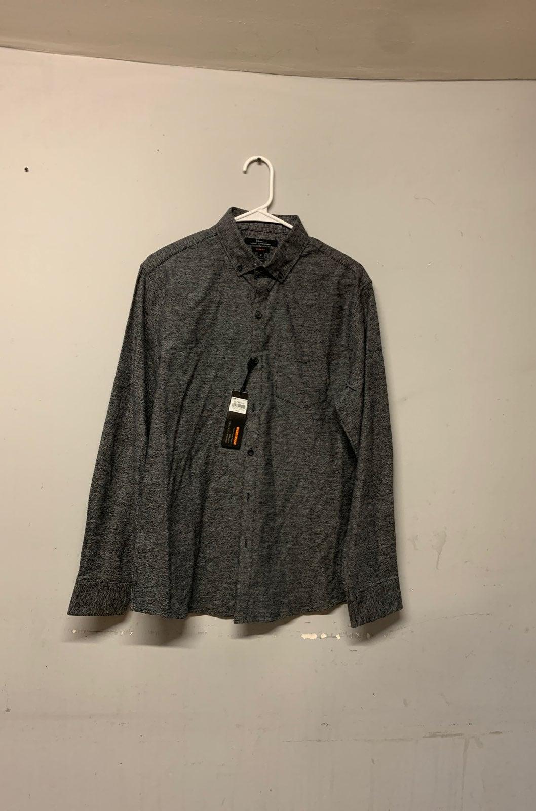 MARC ANTHONY Blue-gray M Dress Shirt Siz
