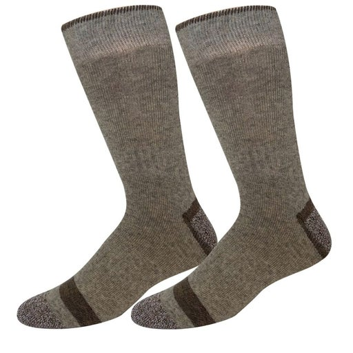 New 2-Pairs Mens Winter Taupe Wool Socks