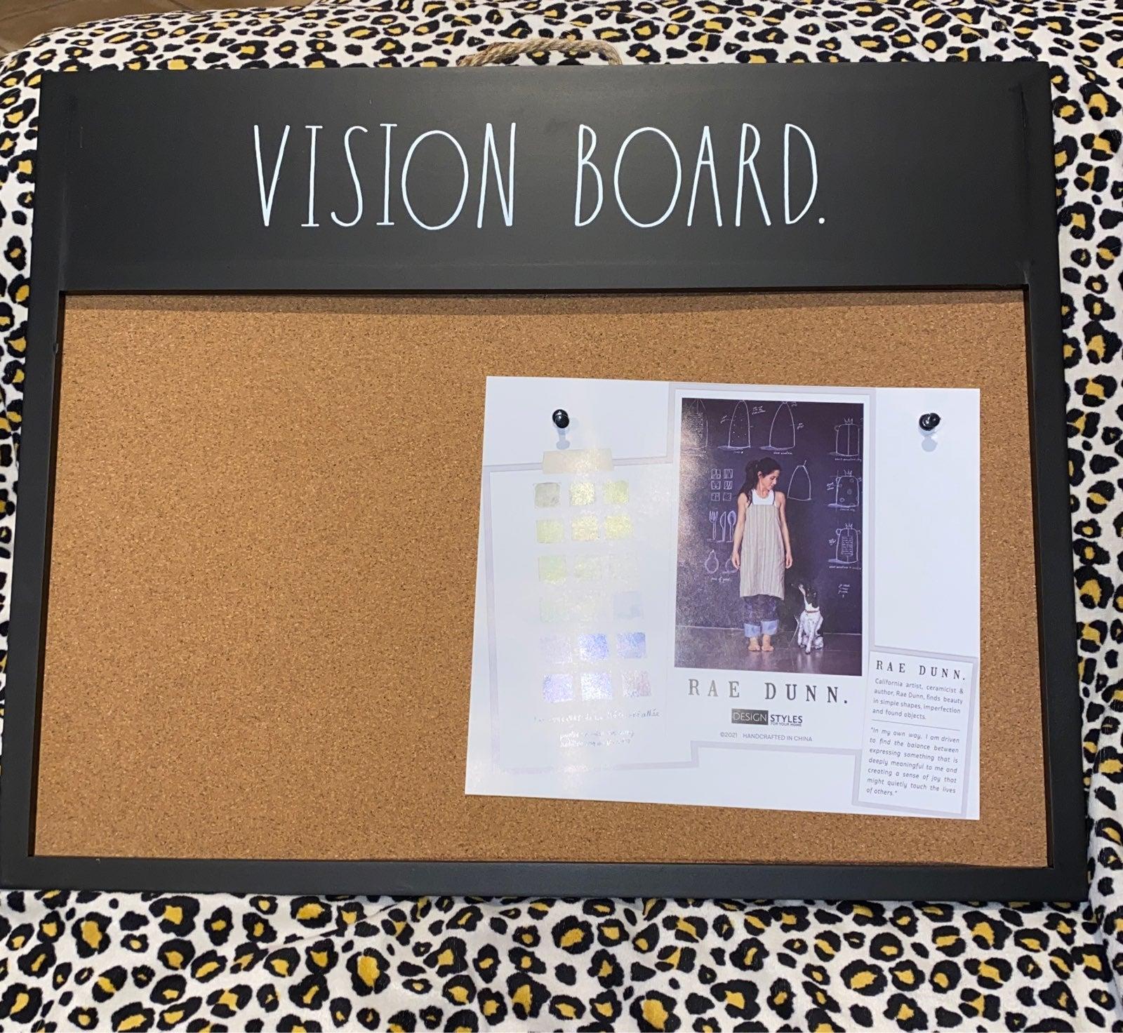 Rae Dunn Black Vision Board