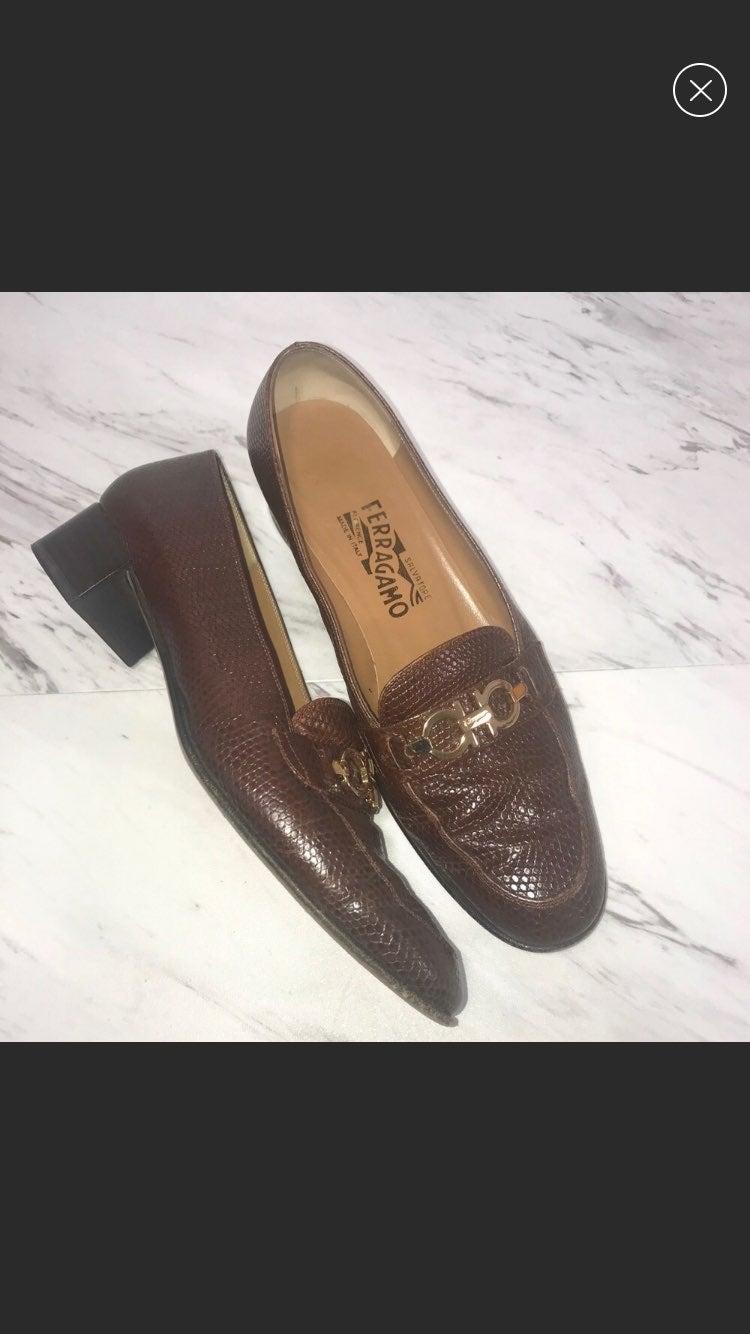 Salvatore Ferragamo Brown Leather Loafer