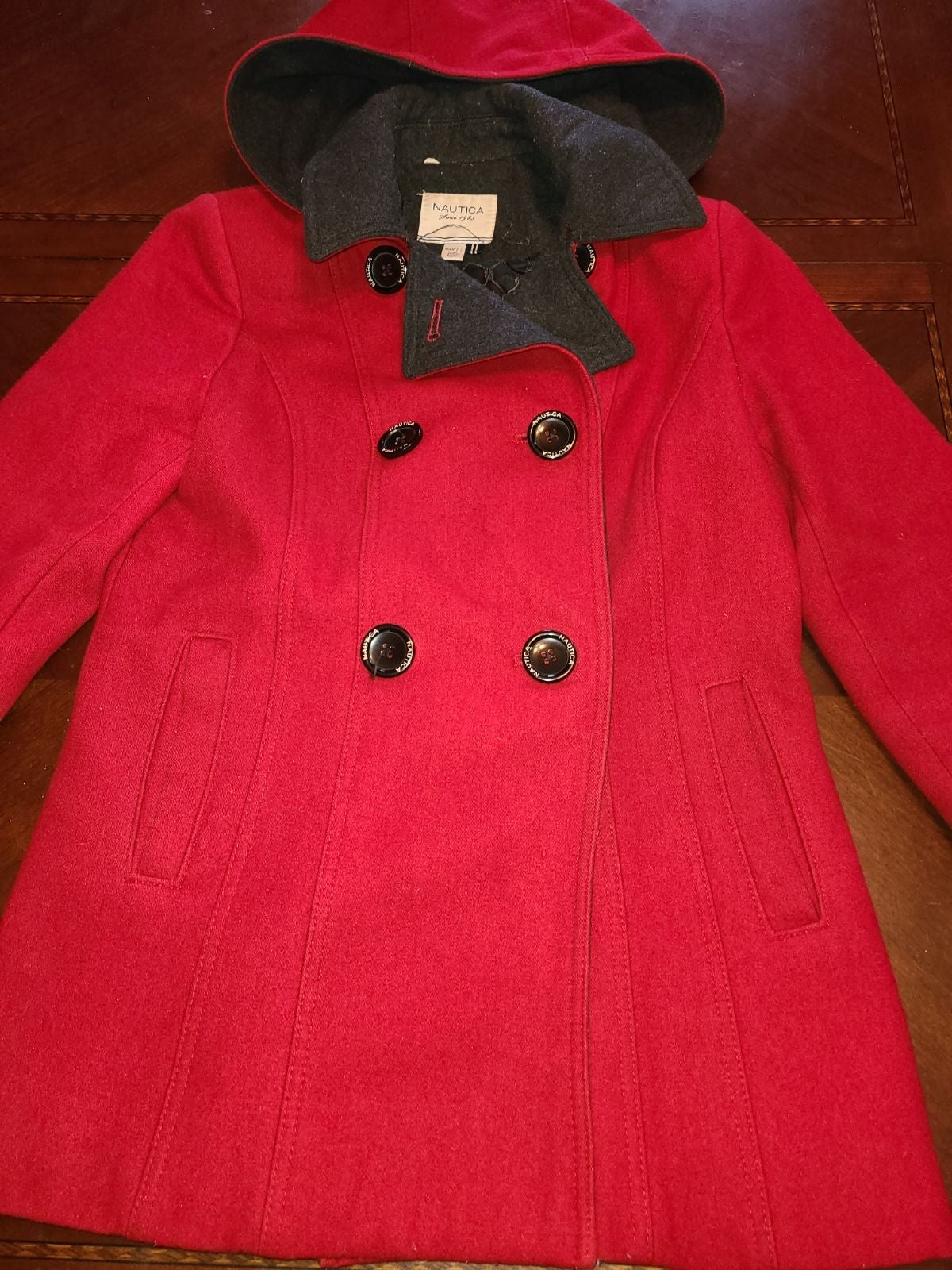 Nautica Coat women's red