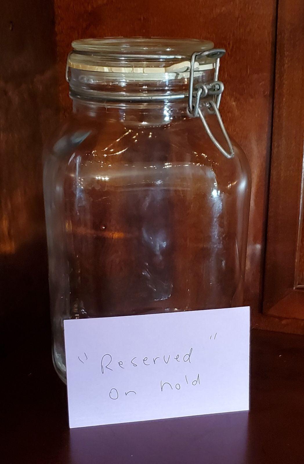 RESERVED Fidenza Italian Glass Wire Jar
