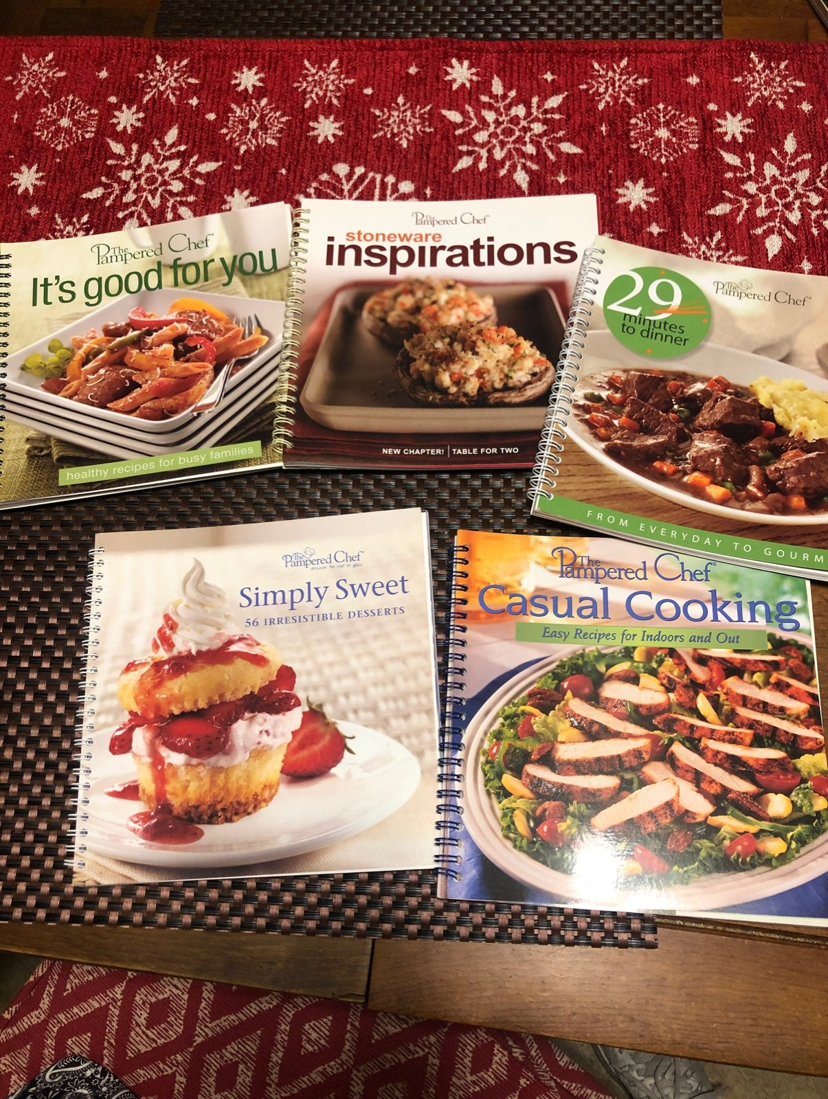 Pampered Chef Cookbook- (5) NEW