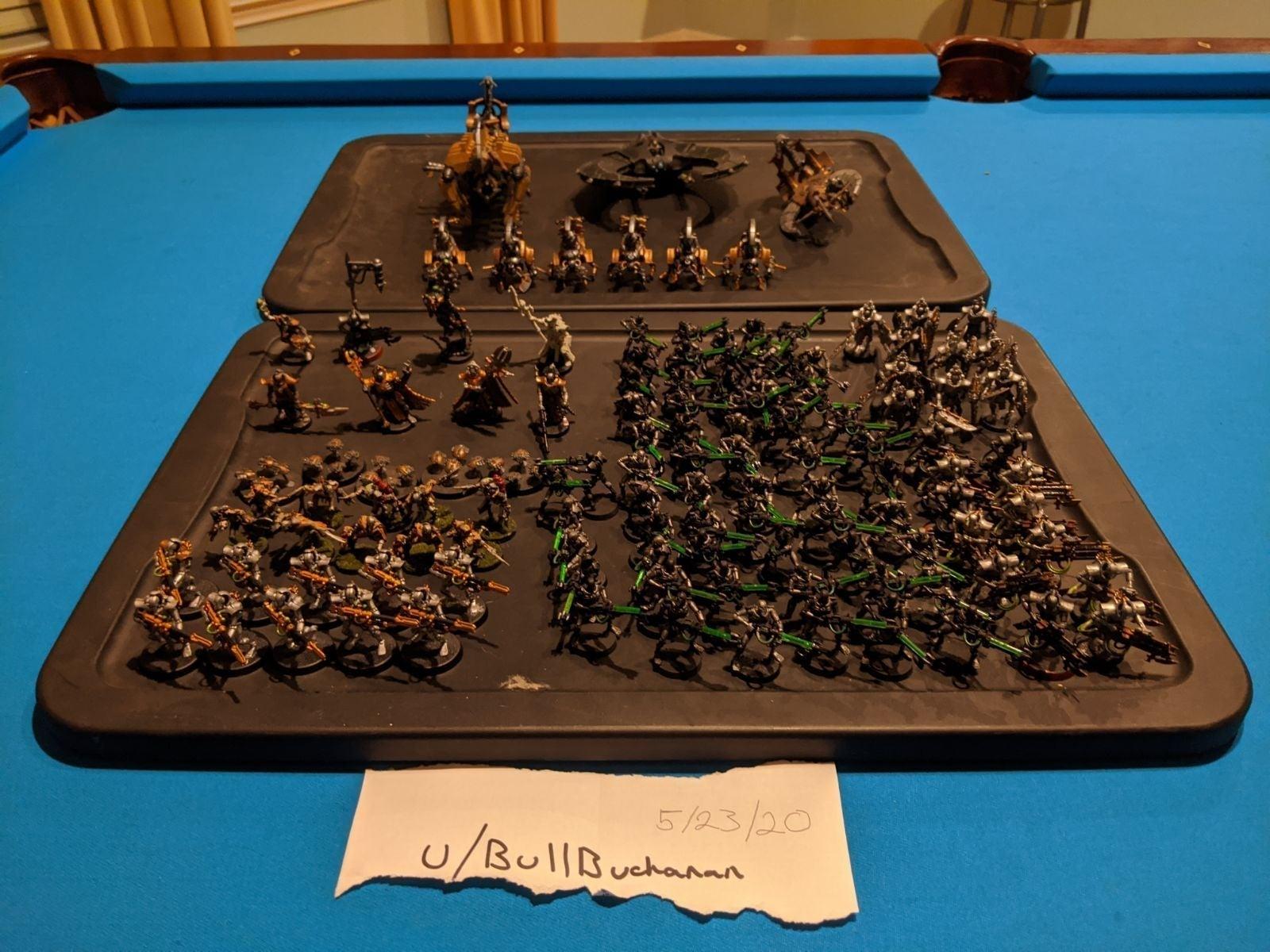 Painted Necron Warhammer 40k army