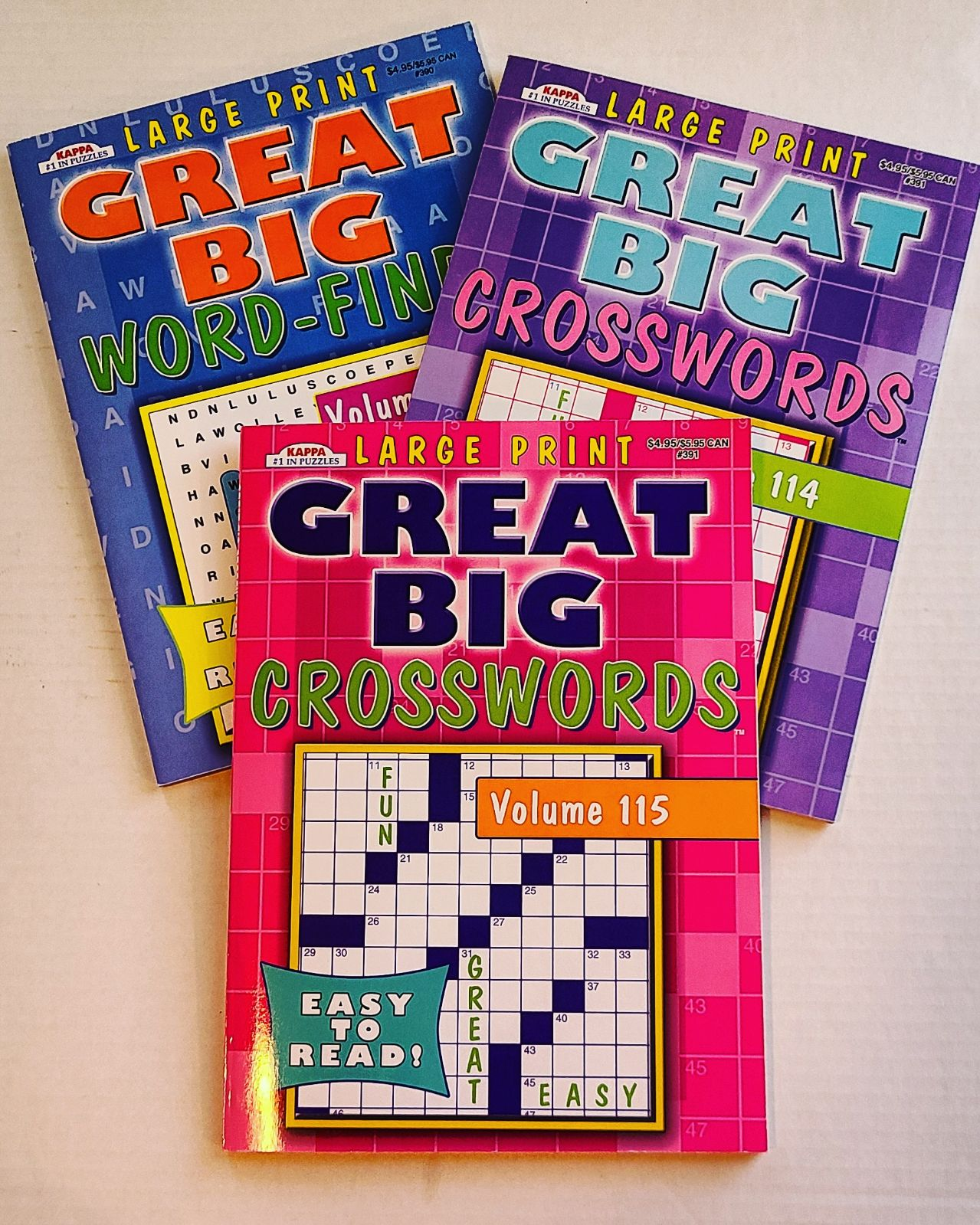 LARGE PRINT Word Find and Crossword