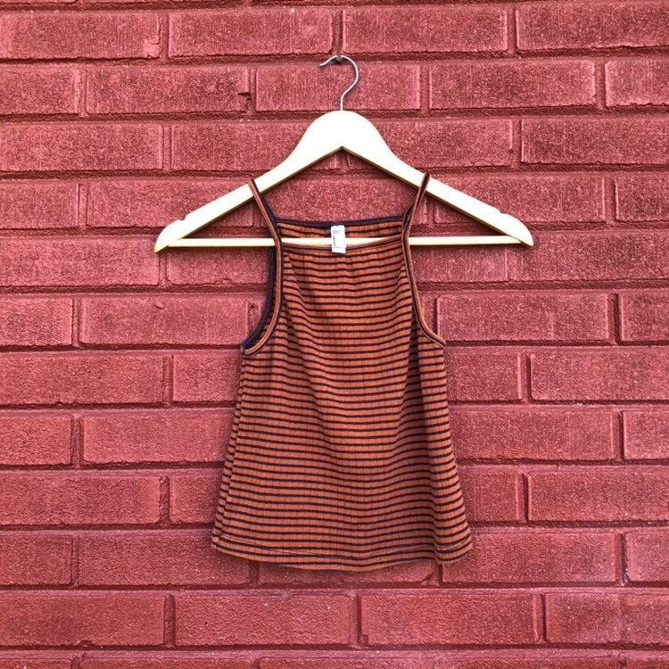 American Apparel Striped Halter Top Size