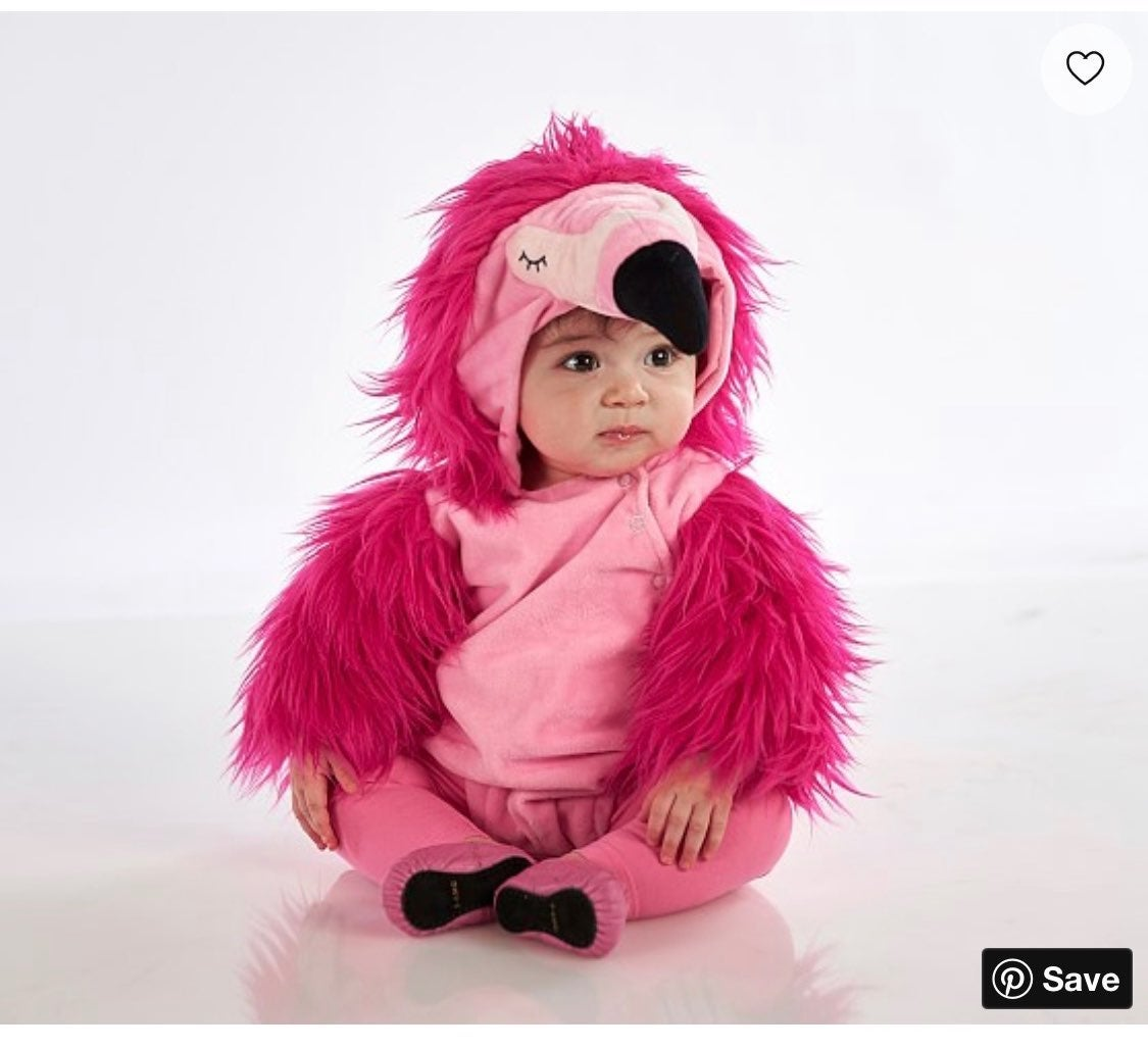 Pottery Barn baby flamingo costume