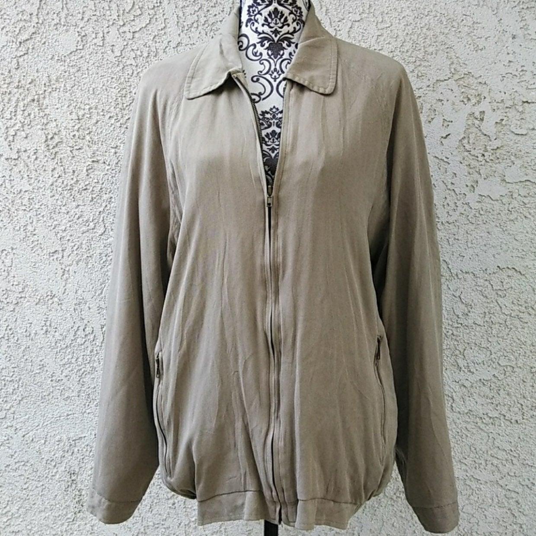 Baracuta Unisex Tan Silk Jacket XL
