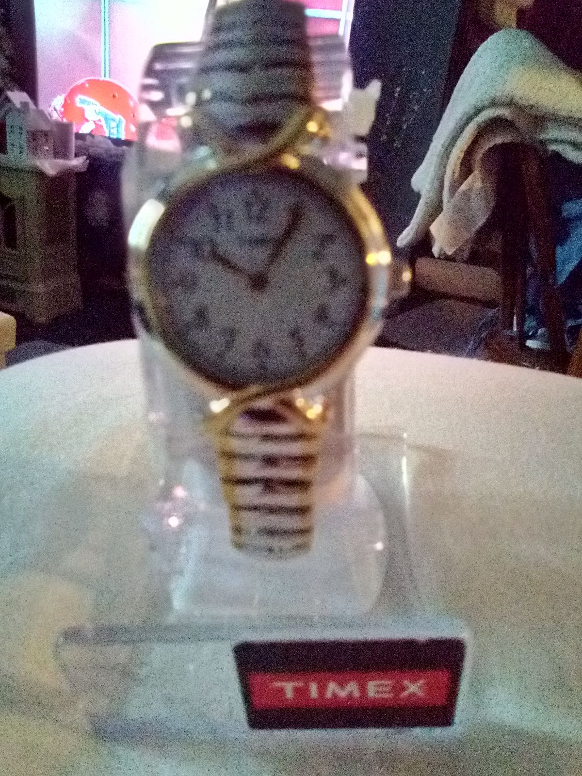 Timex Watch Silver with Gold Trim NEW