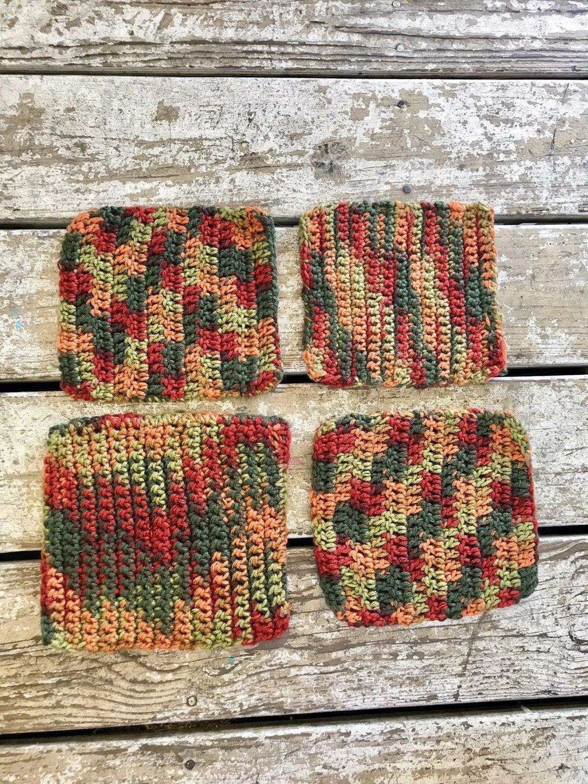 Set of 4 hand crochet pot holders